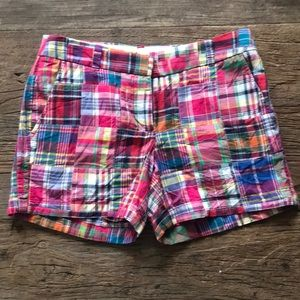 NWT J Crew Madras Plaid City Fit Shorts 4